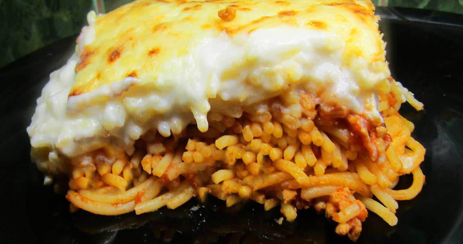 Rakott spagetti lasagne módra