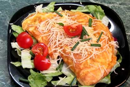 Töltött omlett – videós recept