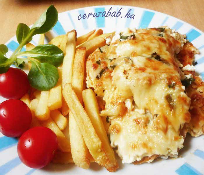 Sajtos-tejfölös-zöldhagymás csirke