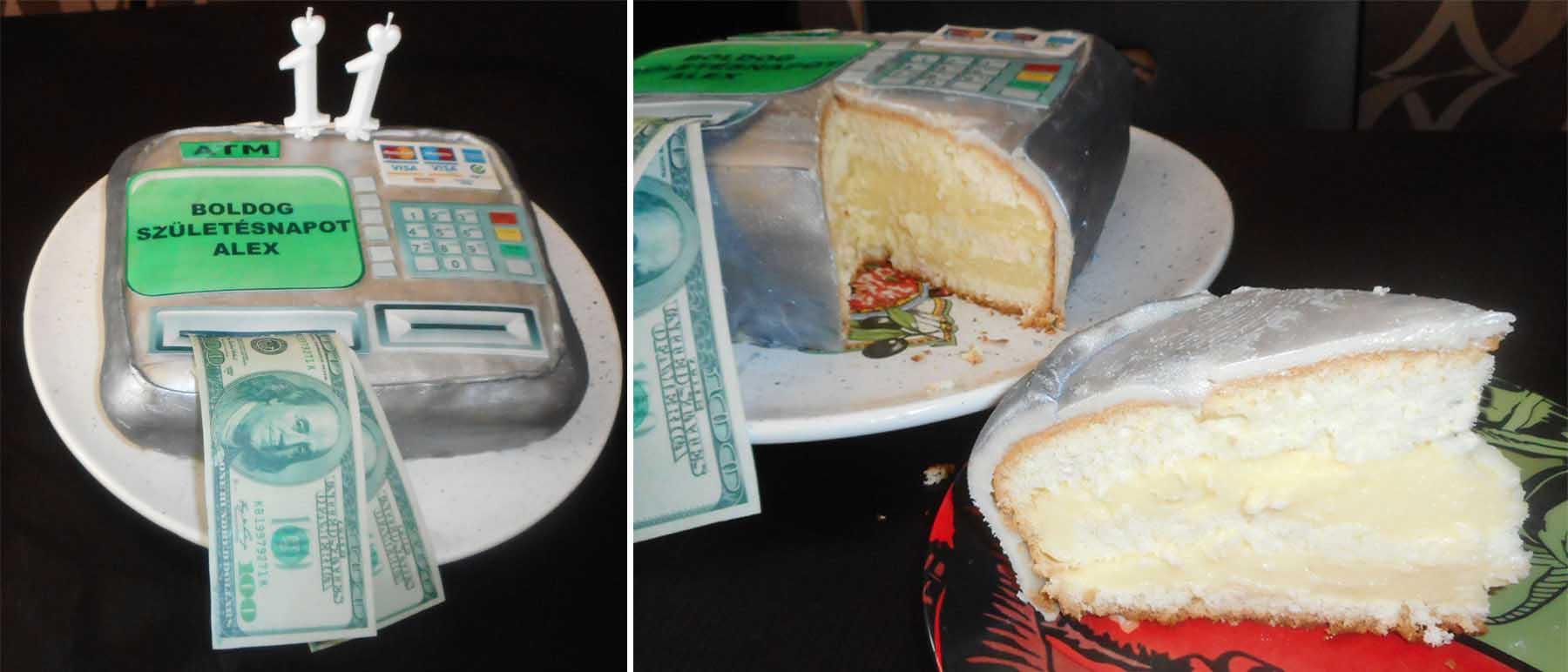 Vaníliás-marcipános torta ATM-re formázva