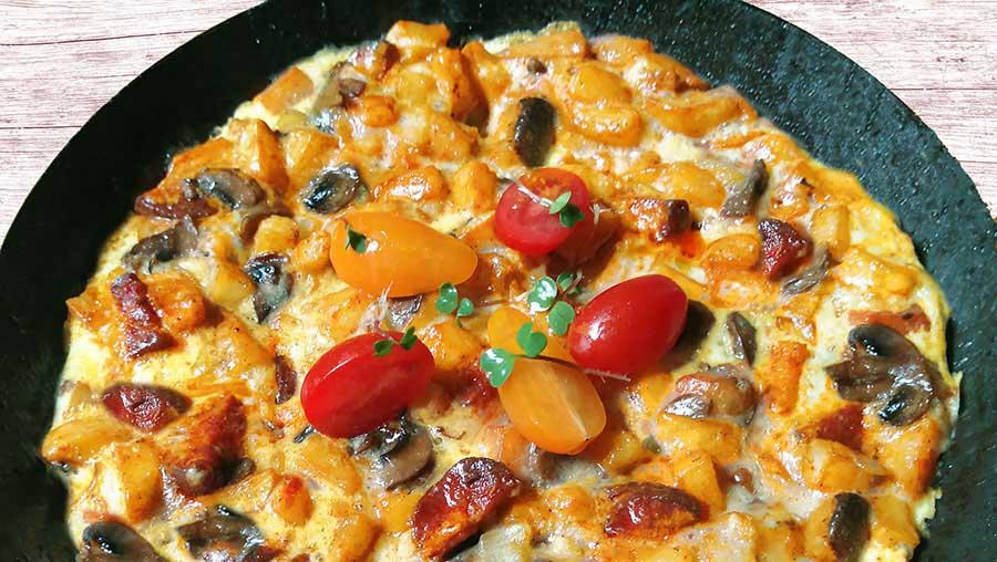 Spanyol omlett gazdagon