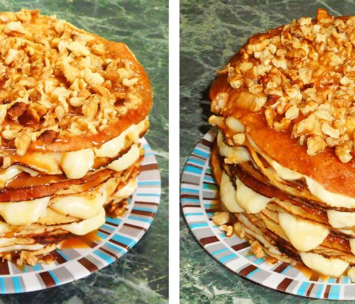 Rakott almás palacsinta torta
