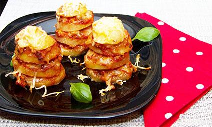 Bolognai rakott krumpli vagy burgonya torony