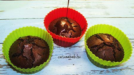 Durván csokis muffin nutellával