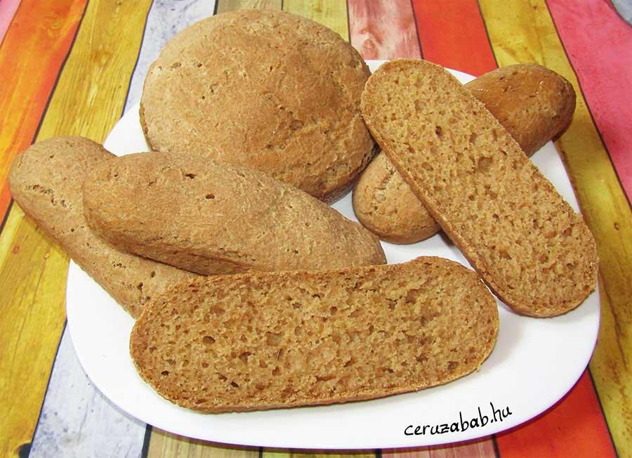 Gluténmentes barna kenyér