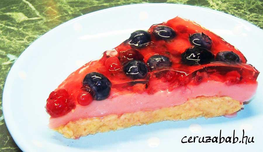 Gyümölcstorta sütés nélkül