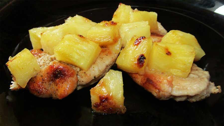Gyors ananászos csirke