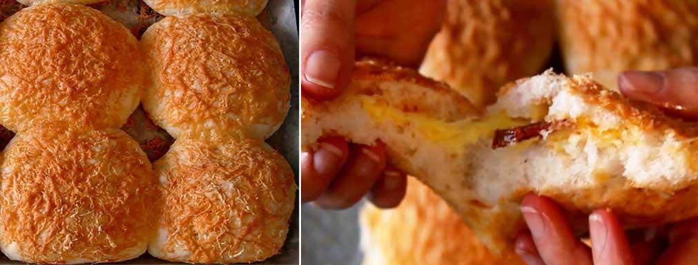 Töltött sajtos zsemle