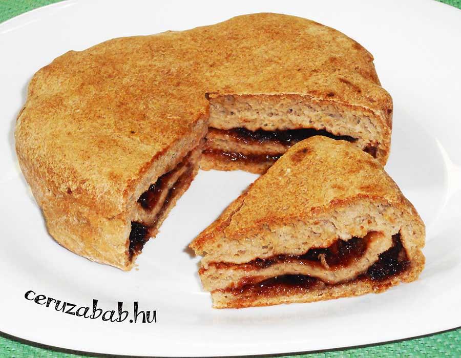 Nutellás-lekváros, szénhidrát csökkentett süti