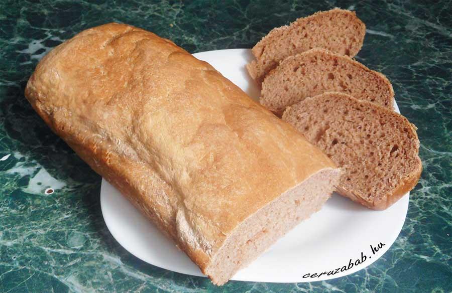 Csökkentett rosttartalmú gluténmentes vegán kenyér