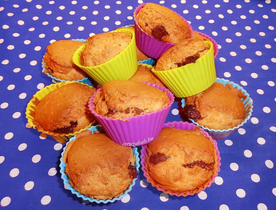 Nutellás angol muffin