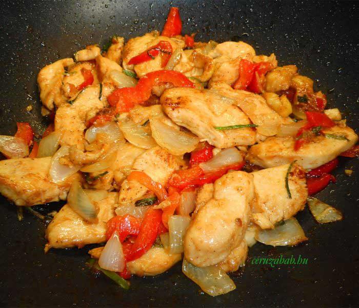 Kínai hagymás csirke