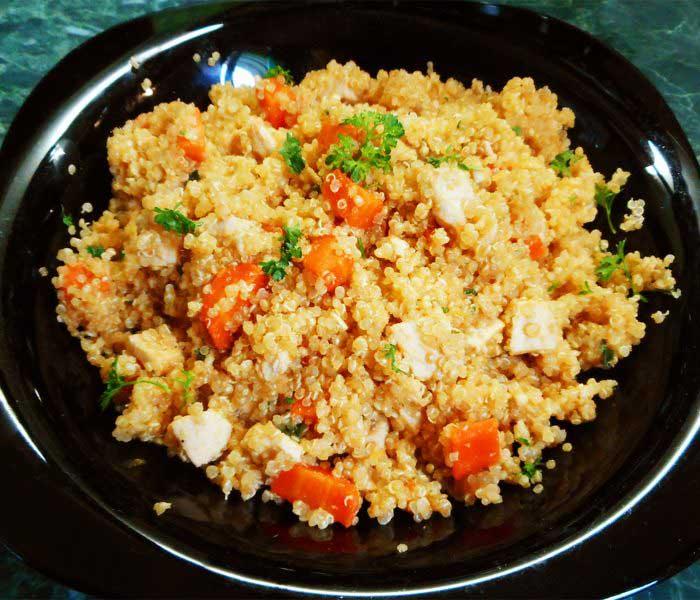Zöldséges-csirkés quinoa