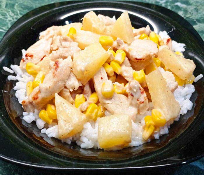 Tejszínes ananászos-kukoricás csirke